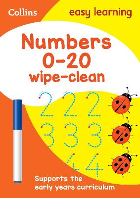Numbers 0-20 Age 3-5 Wipe Clean Activity Book