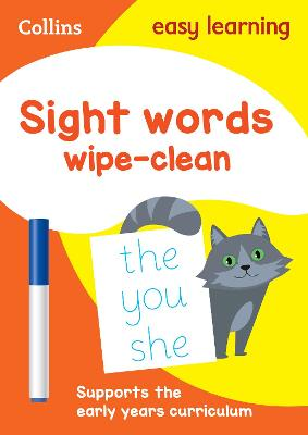 Sight Words Age 3-5 Wipe Clean Activity Book