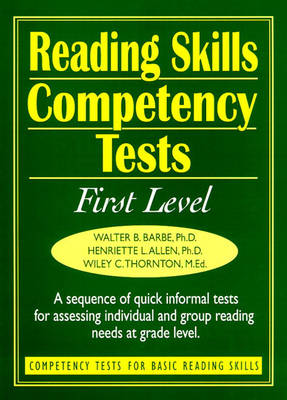 Ready-to-Use Reading Skills Competency Tests: First Grade Reading Level, Vol. 2