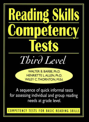 Ready-to-Use Reading Skills Competetency Tests: Third Grade Reading Level, Vol. 4