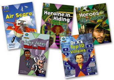 Project X Origins: Brown Book Band, Oxford Level 11: Heroes and Villains: Mixed Pack of 5