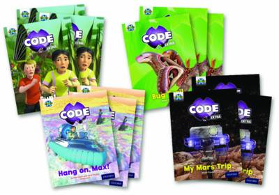 Project X CODE Extra: Yellow Book Band, Oxford Level 3: Bugtastic and Galactic Orbit, Mixed Pack of 4