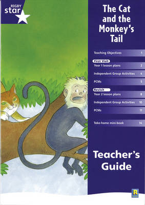 Rigby Star Shared Year 1 Fiction: The Cat and the Monkey's Tail Teachers Guide