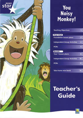 Rigby Star Shared Reception Fiction: You Noisy Monkey! Teacher's Guide