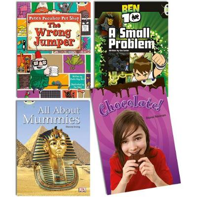 Learn to Read at Home with Bug Club Purple Pack (2 fiction and 2 non-fiction)