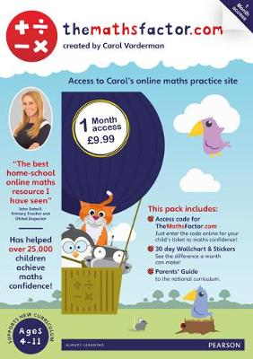 The Maths Factor: 1 Month Access to Carol Vorderman's themathsfactor.com