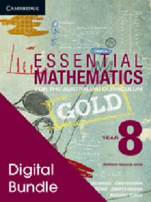 Essential Mathematics Gold for the Australian Curriculum Year 8 Digital and Cambridge Hotmaths