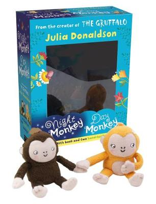 Night Monkey Day Monkey Books & Plush Set