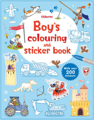 Boys' Colouring and Sticker Book