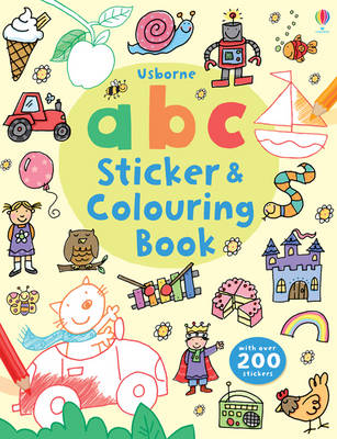 ABC Sticker and Colouring Book