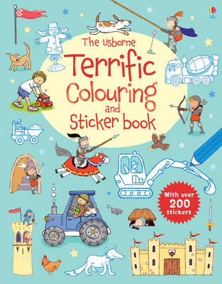 The Usborne Terrific Colouring and Sticker Book