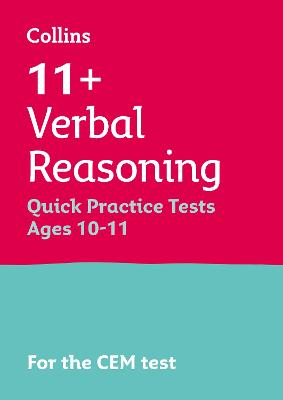 11+ English and Verbal Reasoning Quick Practice Tests Age 10-11 for the CEM tests
