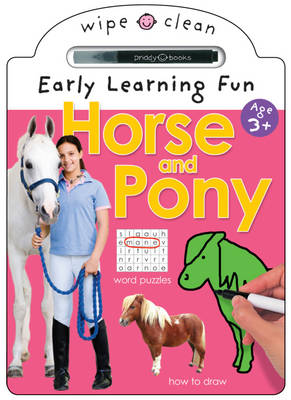 Early Learning Activity Horse & Pony: Wipe Clean Early Learning Activity