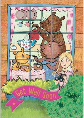 Goldilocks and the Three Bears - Get Well Card-Book: 6 Card-Book Pack