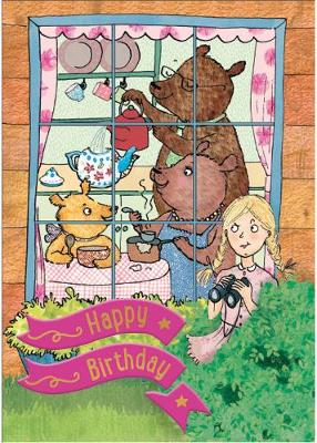 Goldilocks and the Three Bears - Happy Birthday Card-Book: 6 Card-Book Pack