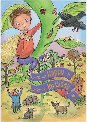 Jack and the Beanstalk - Happy Birthday Card-Book: 6 Card-Book Pack
