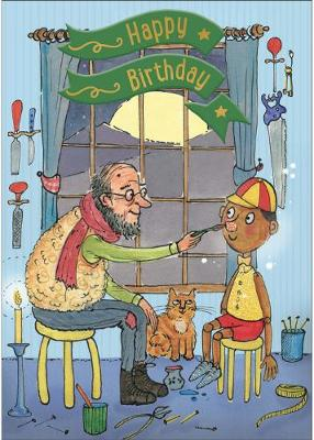 Pinocchio - Happy Birthday Card-Book: 6 Card-Book Pack