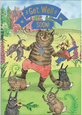 Puss in Boots - Get Well Card-Book: 6 Card-Book Pack
