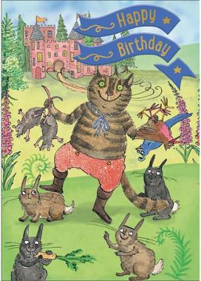 Puss in Boots - Happy Birthday Card-Book: 6 Card-Book Pack