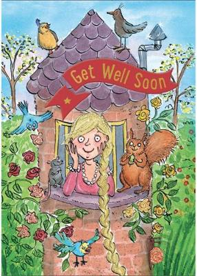 Rapunzel - Get Well Card-Book: 6 Card-Book Pack