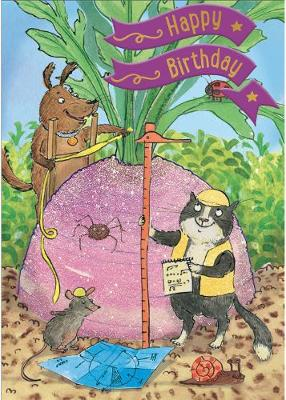 The Enormous Turnip - Happy Birthday Card-Book: 6 Card-Book Pack