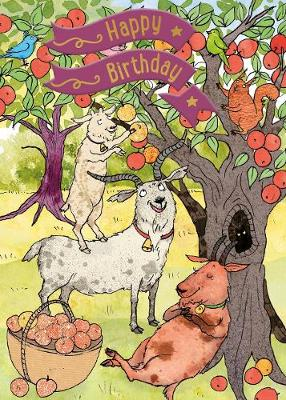 Three Billy Goats Gruff - Happy Birthday Card-Book: 6 Card-Book Pack