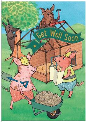 Three Little Pigs - Get Well Card-Book: 6 Card-Book Pack