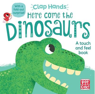 Clap Hands: Here Come the Dinosaurs: A touch-and-feel board book with a fold-out surprise