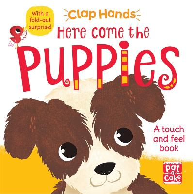Clap Hands: Here Come the Puppies: A touch-and-feel board book with a fold-out surprise