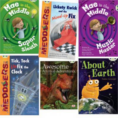 Learn to Read at Home with Bug Club: Lime Pack (Pack of 6 reading books with 4 fiction and 2 non-fiction)