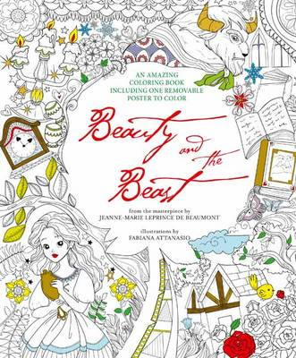 Beauty and the Beast: Colouring Book and Removable Poster