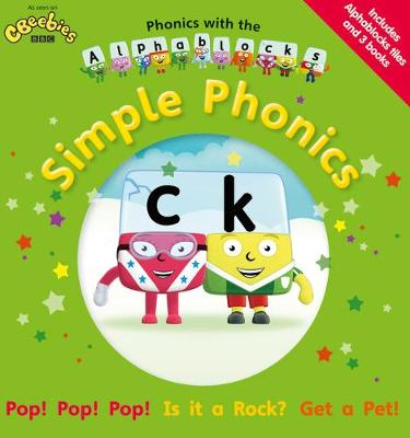 Phonics with the Alphablocks: Simple Phonics for children age 3-5 (Pack of 3 reading books, Alphablocks tiles and Parent Guide)
