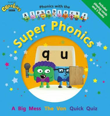Phonics with the Alphablocks: Super Phonics for children age 3-5 (Pack of 3 reading books, Alphablocks card pack and Parent Guide)