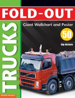 Fold-Out Poster Sticker Book: Trucks