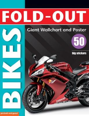Fold-Out Poster Sticker Book: Bikes