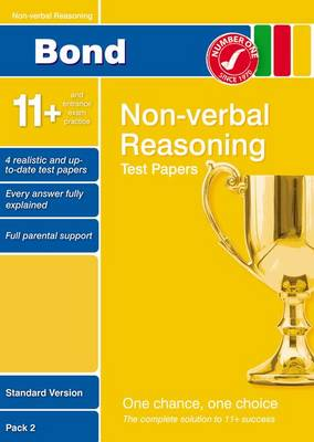 Bond 11+ Test Papers Non-Verbal Reasoning Standard Pack 2