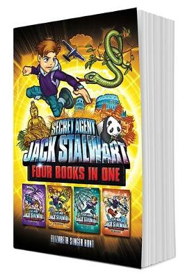 Secret Agent Jack Stalwart (Books 5-8): The Secret of the Sacred Temple, The Pursuit of the Ivory Poachers, The Puzzle of the Missing Panda, Peril at the Grand Prix