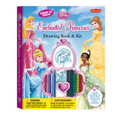 Learn to Draw Disney Enchanted Princesses Drawing Book & Kit: Includes Everything You Need to Draw Your Favorite Disney Princesses!