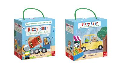 Bizzy Bear Book and Blocks set