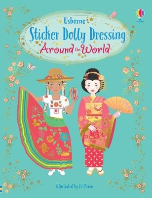 Sticker Dolly Dressing Around the World
