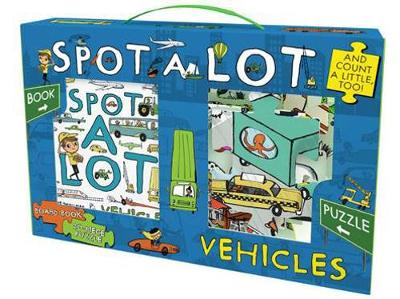 Spot A Lot Vehicles Board Book & 20-Piece Puzzle