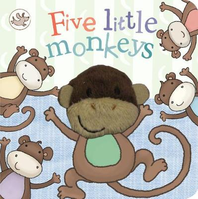 Little Learners Five Little Monkeys Finger Puppet Book