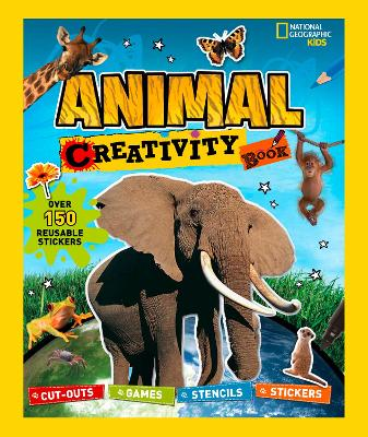 Animal Creativity Book: Cut-Outs, Games, Stencils, Stickers