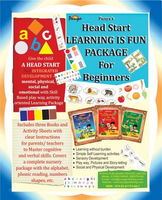 Beginners Head Start Learning is Fun Package: Skill Based, Play Way, Activity Oriented Learning Package