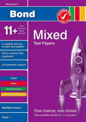 Bond 11+ Test Papers Mixed Pack 1 Multiple Choice