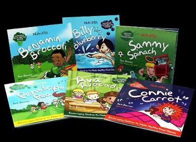 NutriKids Story Book Set: Plant the Seeds of Health in your child with Connie Carrot and her friends