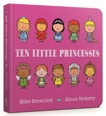 Ten Little Princesses Board Book