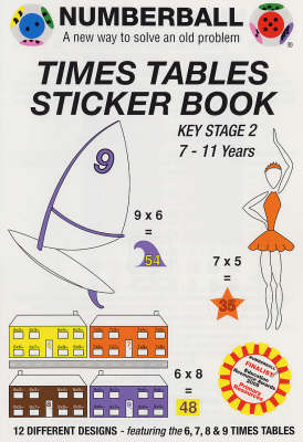 Numberball Times Tables Sticker Book