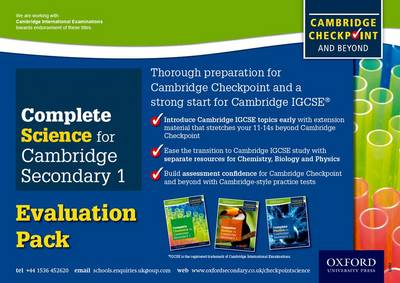 Complete Science for Cambridge Secondary 1 Evaluation Pack: For Cambridge Checkpoint and Beyond
