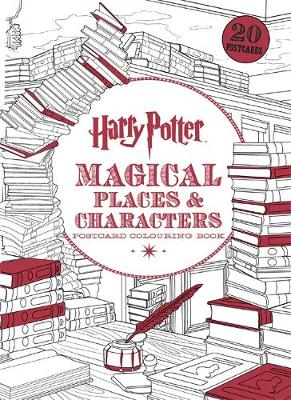 Harry Potter Magical Places & Characters Postcard Colouring Book: 20 postcards to colour